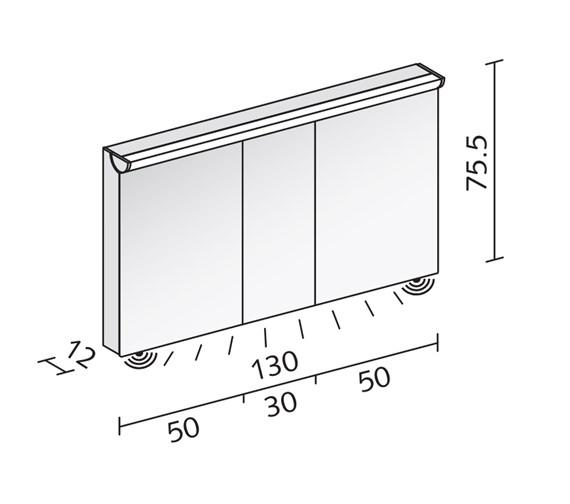 Technical drawing QS-V16598 / FLI 130/3/FL