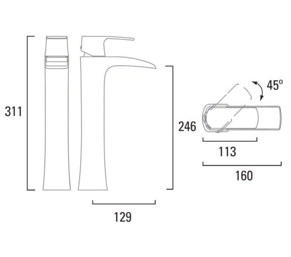 Technical drawing QS-V6789 / T175002