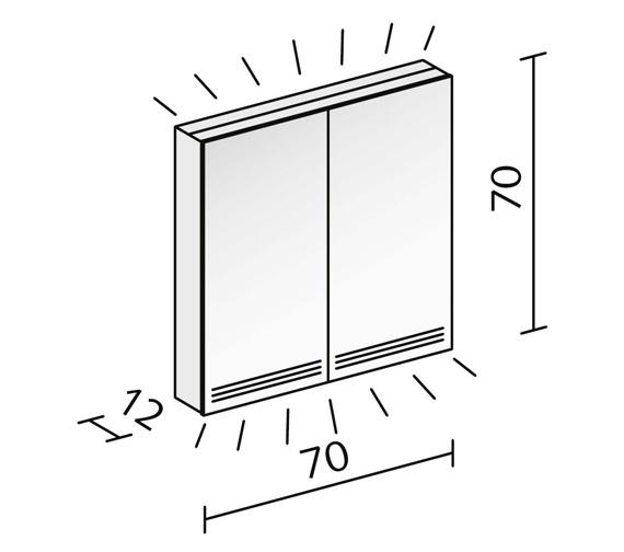 Technical drawing QS-V16599 / GRL 70/2/FL