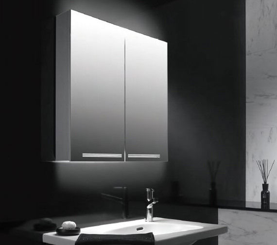 Additional image of Schneider Graceline 2 Door Illuminated Mirror Cabinet 1000mm
