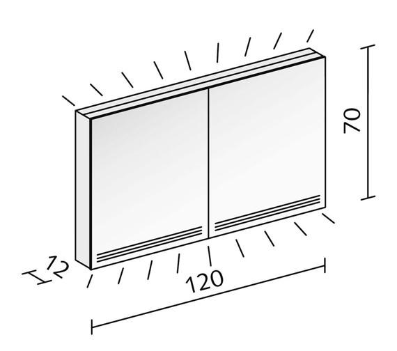 Alternate image of Schneider Graceline 2 Door Illuminated Mirror Cabinet
