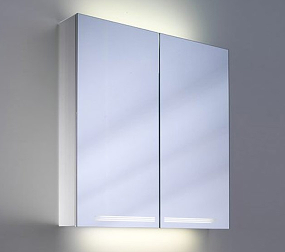 Alternate image of Schneider Graceline 2 Door Illuminated Mirror Cabinet - More Sizes Available