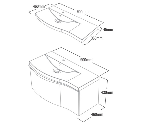 Technical drawing QS-V79318 / SER900RW