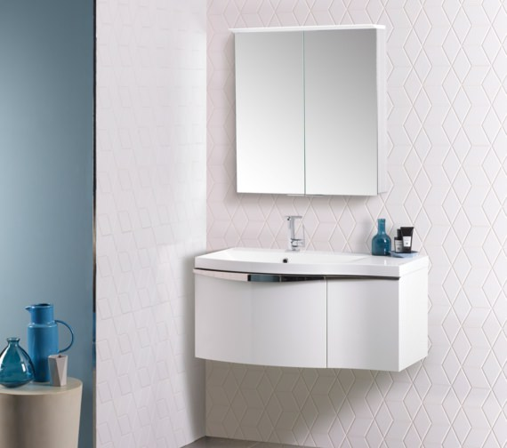 Alternate image of Roper Rhodes Serif 900mm Wall Hung Double Drawer Unit With Basin