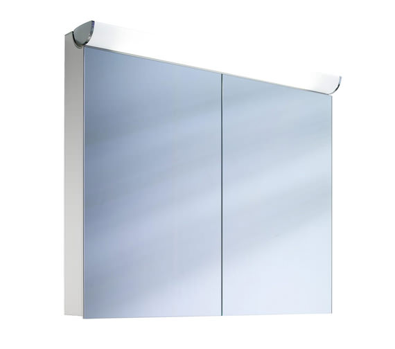 schneider faceline 2 door illuminated mirror cabinet 1000mm