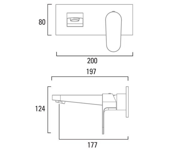 Technical drawing QS-V6787 / T181902