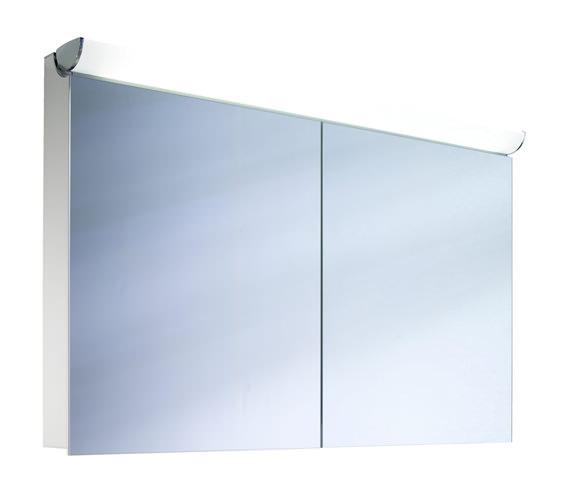 Alternate image of Schneider FaceLine 2 Door Illuminated Mirror Cabinet - More Sizes Available