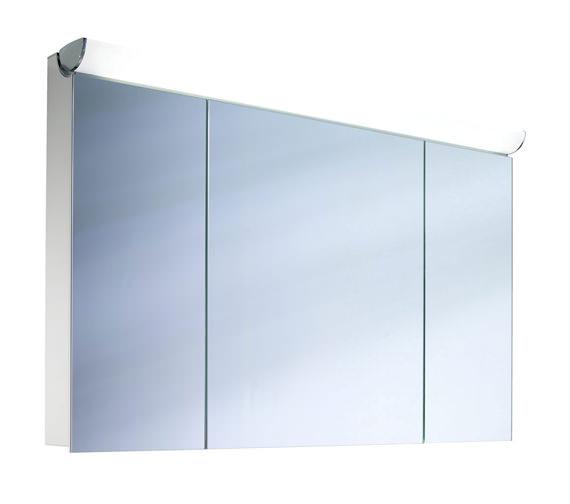 Schneider FaceLine 3 Door Illuminated Mirror Cabinet 1200mm