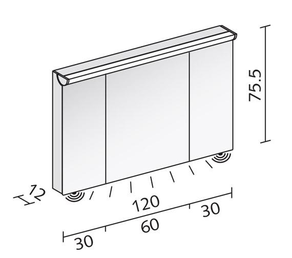 Technical drawing QS-V16597 / FLI 120/3/FL
