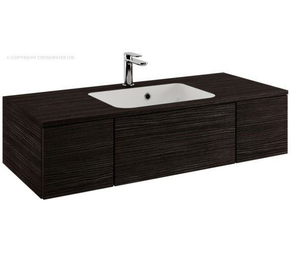 Bauhaus Pier 1000mm Anthracite Double Drawer Console Unit And Basin