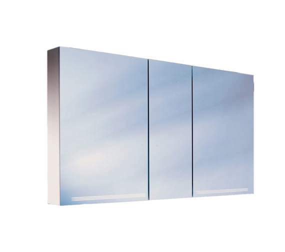 Schneider Graceline 3 Door Illuminated Mirror Cabinet 1300mm