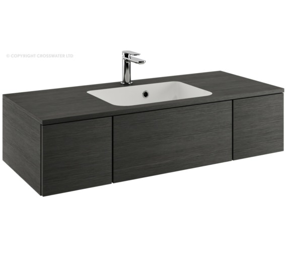 Bauhaus Pier 1000mm Steel Double Drawer Console Unit And Basin