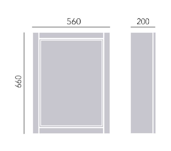 Technical drawing QS-V72690 / KWA31