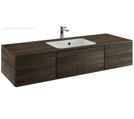 Bauhaus Pier 1200mm Ebony Double Drawer Console Unit And Basin