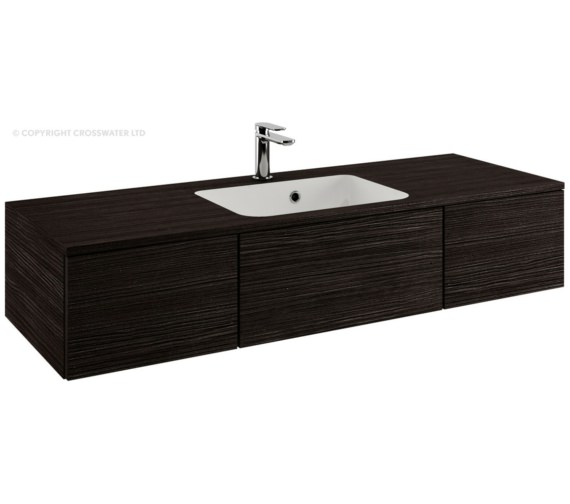 Bauhaus Pier 1200mm Anthracite Double Drawer Console Unit And Basin