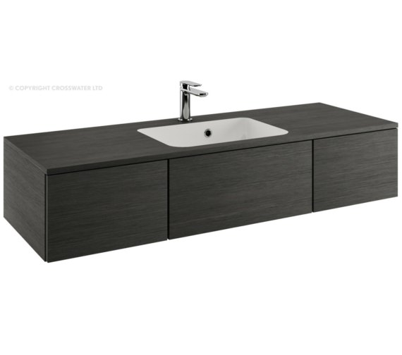 Bauhaus Pier 1200mm Steel Double Drawer Console Unit And Basin