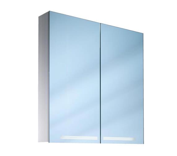 Schneider Graceline 2 Door 1000mm Mirror Cabinet With LED Light