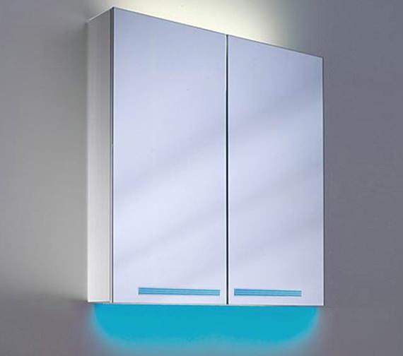 Additional image of Schneider Graceline 2 Door 1000mm Mirror Cabinet With LED Light