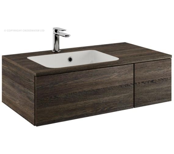 Bauhaus Pier 800mm Ebony Single Drawer Console Unit And Basin