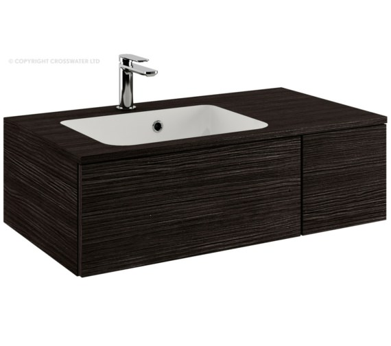 Bauhaus Pier 800mm Anthracite Single Drawer Console Unit And Basin