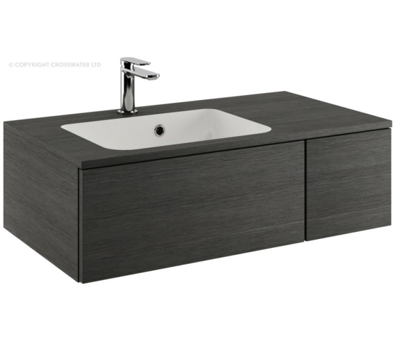 Bauhaus Pier 800mm Steel Single Drawer Console Unit And Basin