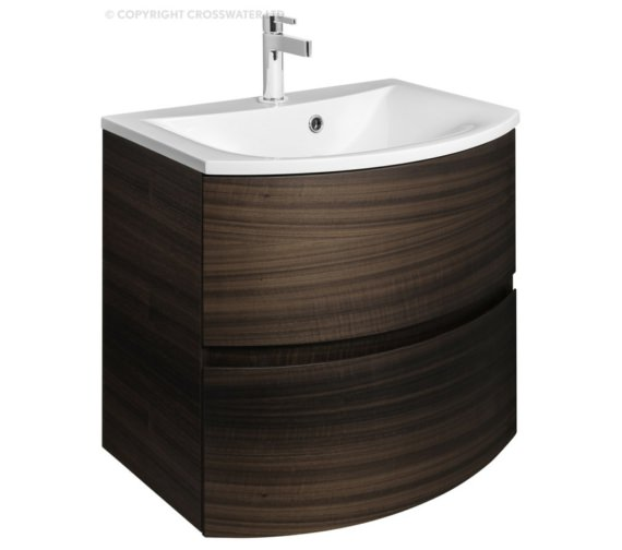 Bauhaus Svelte 600mm Eucalyptus Wall Hung Vanity Unit And Basin