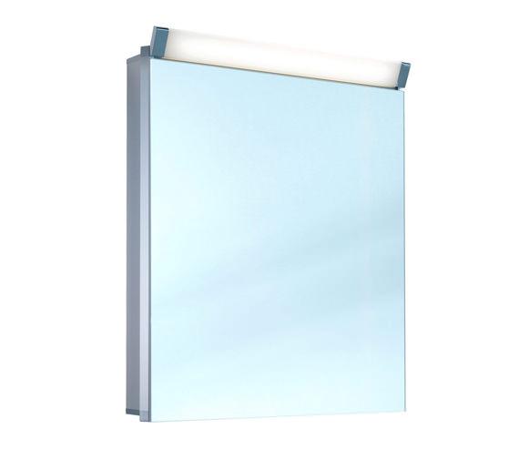 Schneider Prideline 1 Door 600mm Mirror Cabinet With Flourescent Lighting