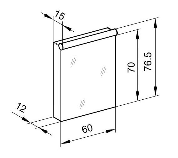 Technical drawing QS-V16609 / PDL 60/1/FL