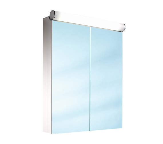 Schneider Prideline 765mm Height 2 Door Mirror Cabinet With Flourescent Lighting - More Width Sizes Available