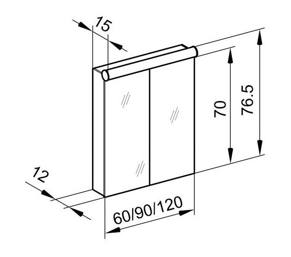 Technical drawing QS-V16611 / PDL 90/2/FL