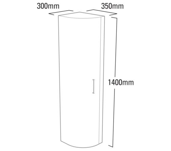 Technical drawing QS-V37785 / LUC350W