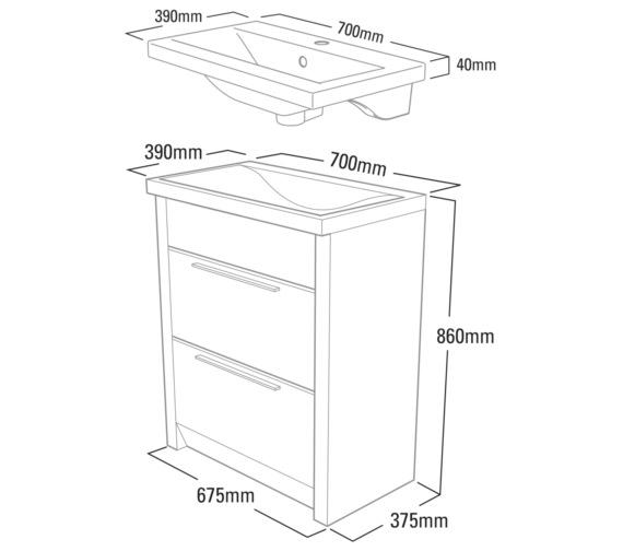Technical drawing QS-V37776 / KA700W