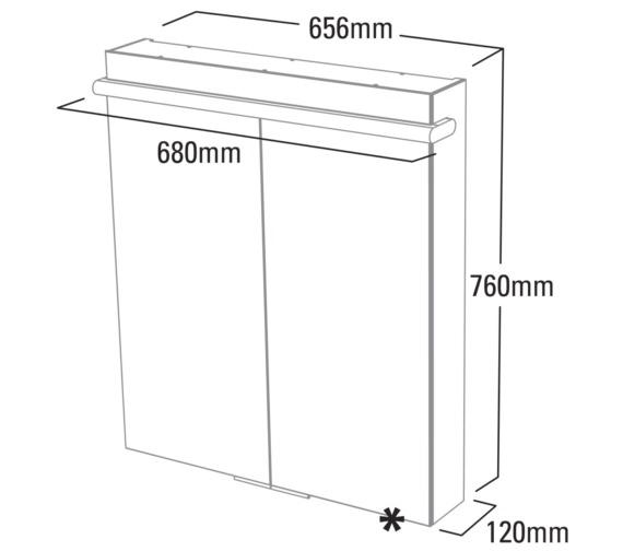 Technical drawing QS-V6800 / RT65AL