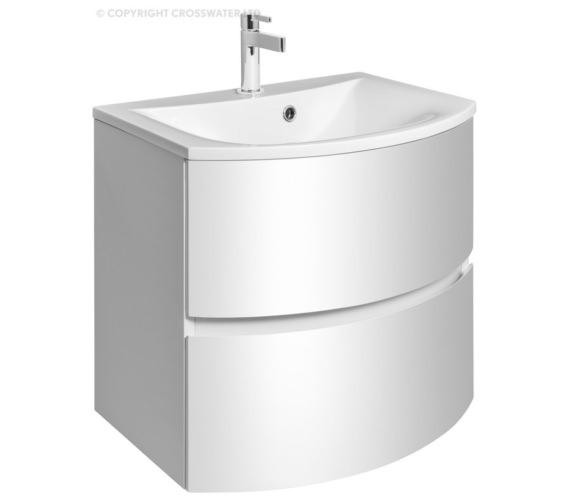 Bauhaus Svelte 600mm White Gloss Wall Hung Vanity Unit And Basin