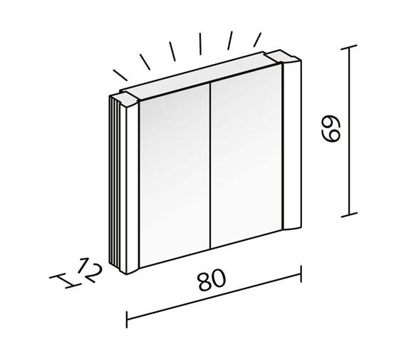 Technical drawing QS-V16615 / SPL 80/2/FL
