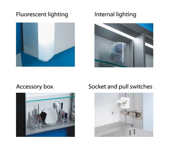 Additional image of Schneider Splashline 2 Door Mirror Cabinet 800mm