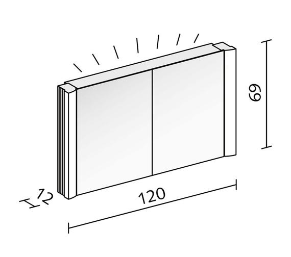 Technical drawing QS-V16617 / SPL 120/2/FL