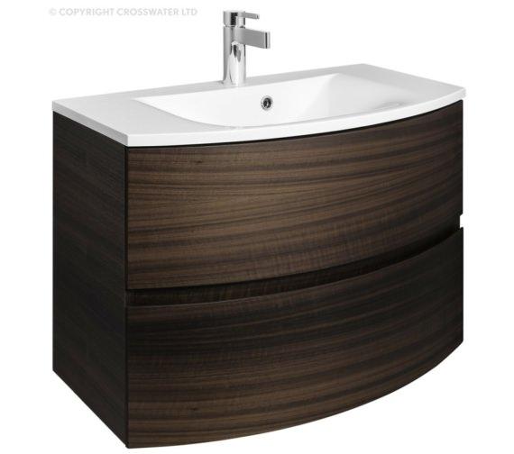 Bauhaus Svelte 800mm Eucalyptus Wall Hung Vanity Unit And Basin