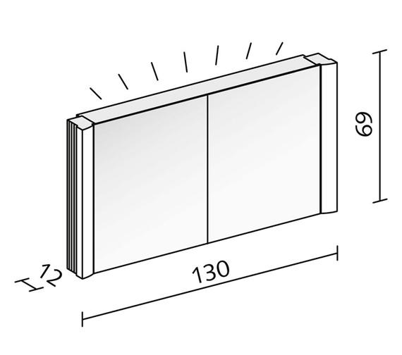 Technical drawing QS-V16618 / SPL 130/2/FL