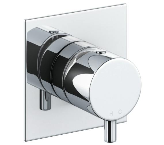 Abode Cyclo Chrome Wall Mounted Bath Mixer Control