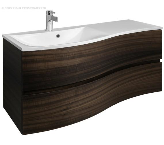 Bauhaus Svelte 1200mm Eucalyptus Wall Hung Vanity Unit And Basin