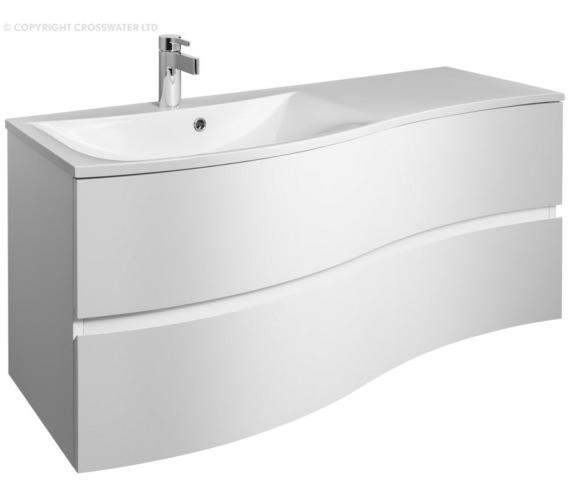 Bauhaus Svelte 1200mm White Gloss Wall Hung Vanity Unit And Basin