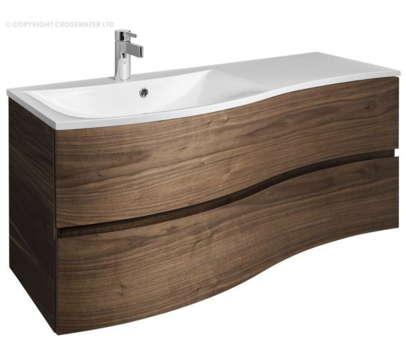 Bauhaus Svelte 1200mm American Walnut Wall Hung Vanity Unit And Basin