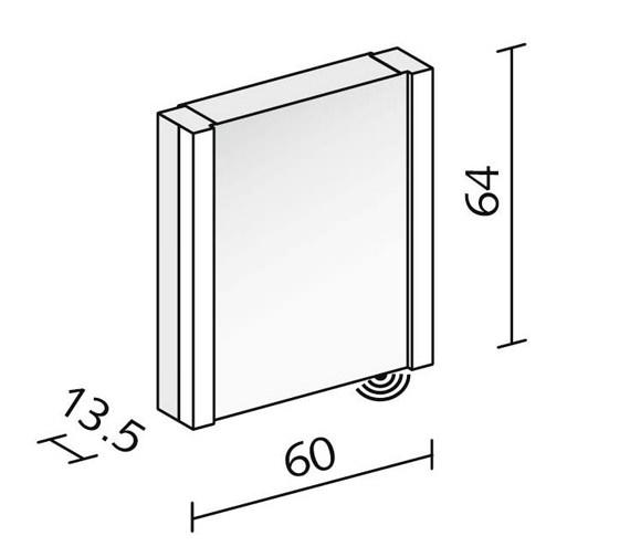 Technical drawing QS-V16619 / PEP 60/1/FL