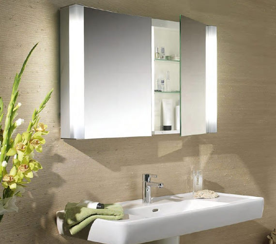 Schneider Pepline 2 Door Mirror Cabinet