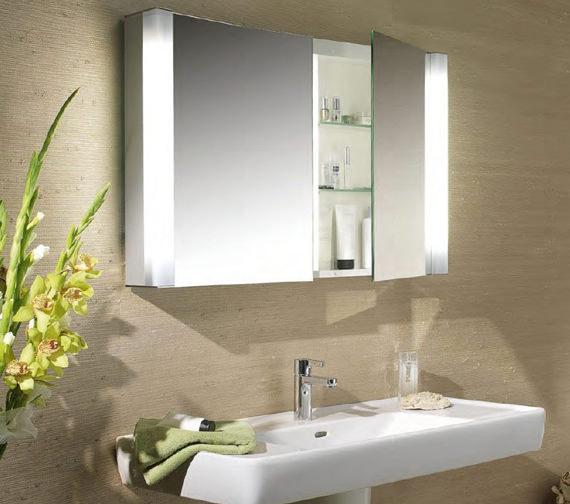 Alternate image of Schneider Pepline 2 Door Mirror Cabinet - More Sizes Available