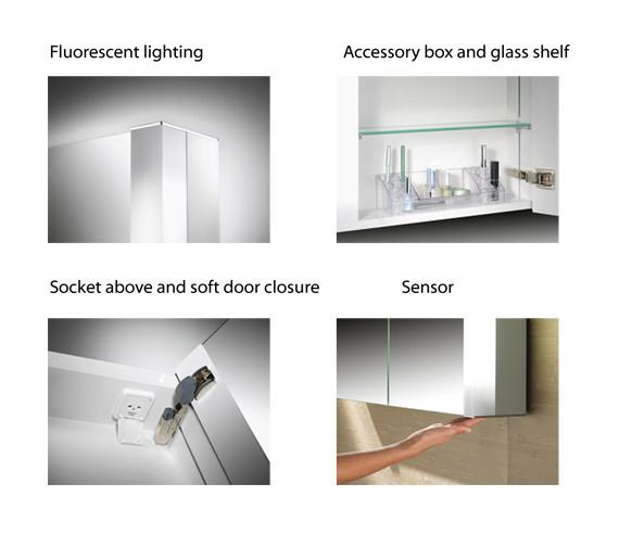 Additional image of Schneider Pepline 2 Door Mirror Cabinet 1000mm