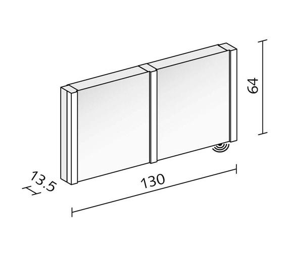 Technical drawing QS-V16623 / PEP 130/2/FL