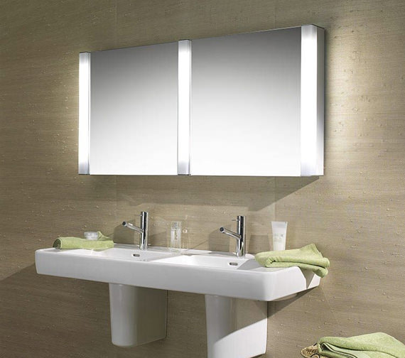 Additional image of Schneider Pepline 2 Door Mirror Cabinet 1300mm