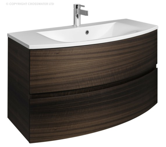 Bauhaus Svelte 1000mm Eucalyptus Wall Hung Vanity Unit And Basin